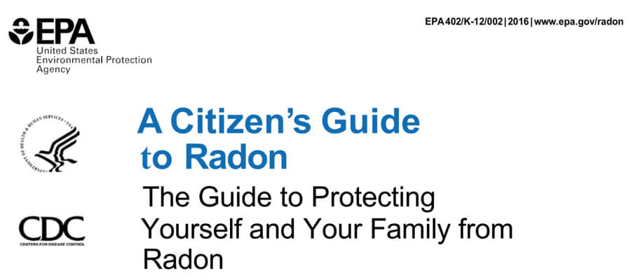 EPA citizen Guide to Radon